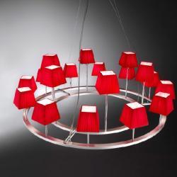 Lámpara XVIII (Accessory) lampshade square Cinta translucent Roja