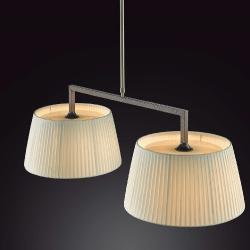 Lua - 2 lights (Solo Structure) Lamp Pendant Lamp without lampshades 2xE27 77w Hierro Black