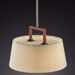 Lua - 1 luz (Solo Estructura) Lámpara Colgante sin pantalla E27 77w Níquel Satinado