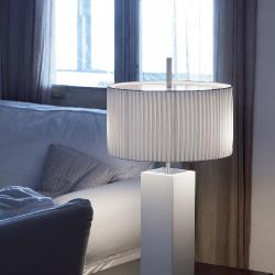 Mani - table (Solo Structure) Table Lamp without lampshade E27 46w Níquel beech Wengue