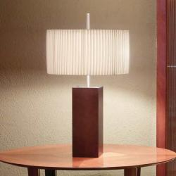 Mani - Mini (Solo Structure) Table Lamp without lampshade E27 46w Níquel beech Wengue