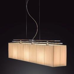 Mar (Solo Structure) Lamp Pendant Lamp without lampshade E27 46w Piel Oscura cable Transparent