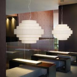 Mos - 01 Lamp Pendant Lamp E27 46w Cinta translucent white