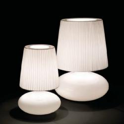 Muf - 01 (Solo Structure) Table Lamp without lampshade E27 77w Glass Soplado opal-Chrome