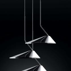 Nón Lá Set 3 circular Lamp Pendant Lamp 31,5w LED TRIAC white Lacquered Shiny
