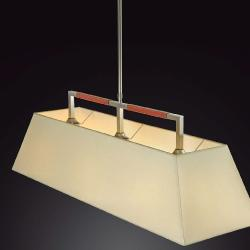 Tau - 1 light (Solo Structure) Lamp Pendant Lamp without lampshade E27 46w Nickel Satin