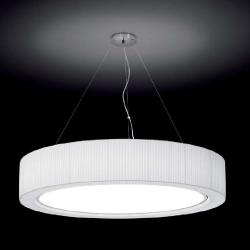 Urban - 120 ceiling lamp 2G11 36w dimmable Sistema Dali/Chrome-Cinta translucent white