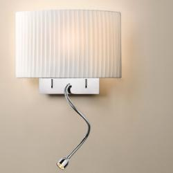 Wall Street - FL (Solo Structure) Wall Lamp without lampshade E27 46w Niquel Satin