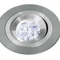 3058 Incasso Rotonda di MR11 Gu4 Alluminio