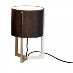 Nirvana Table Lamp ø25cm (mini) níquel Matt lampshade beige