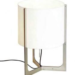 Nirvana Lâmpada de mesa ø40cm níquel Mate abajur branco