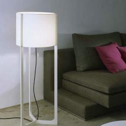 Nirvana lámpara of Floor Lamp ø40cm níquel Matt white lampshade