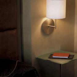hotel Wall Lamp white lampshade round Beige
