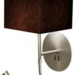 hotel Python Wall Lamp white lampshade square black