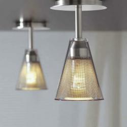 Vips ceiling lamp Nickel mate