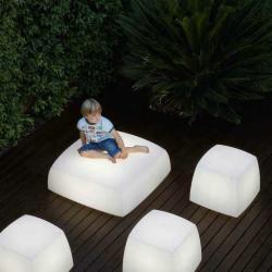 Lite cube asiento/lámpara blanco (calido 2700ºK)