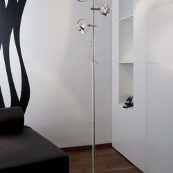 Dial lámpara of Floor Lamp Chrome base white