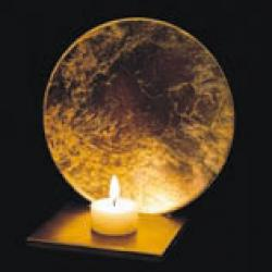 LUNA Stand of candle of table Gold