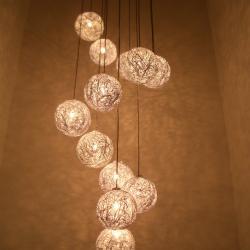 Sweet Light Spirale Pendant Lamp 7 lights G4 7x20w Aluminium
