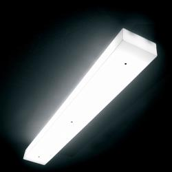 Box C120 ceiling lamp 2xG5 54w - white opal