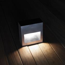 LAP WR 20 Baliza de exterior empotrable en pared LED 2x6,3W 24,5cm - acero corten