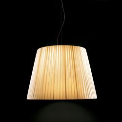 Royal S Pendant Lamp Oversize cable Brown E27 4x100w lampshade Beige