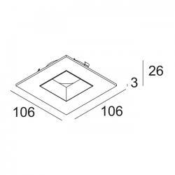 iMax Cover Square W B