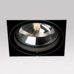 Grid IN Trimless 1 QR Frames Recessed 1xG53 100w Aluminium