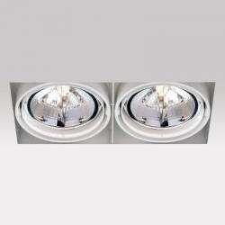 Grid IN Trimless 2 QR Frames Recessed 2xG53 100w Aluminium