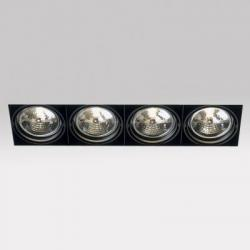 Grid IN Trimless 4line QR Frames Recessed 4xG53 100w Black