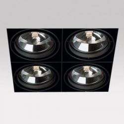 Grid IN Trimless 4 QR Frames Recessed 4xG53 100w Black