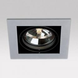 Grid IN 1 QR Frames Recessed 1xG53 100w Aluminium Black
