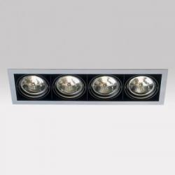 Grid IN 4line QR Frames Recessed 4xG53 100w white white