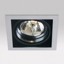 Minigrid in 1 QR BA15d 1x50w 30º Aluminio Aluminio