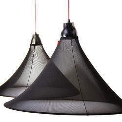 Flux Lámpara Colgante LED P.40Xø70 negro/NEG