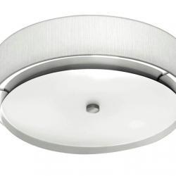 Iris T 2712 ceiling lamp 45cm E27 3x20W Nickel white lampshade