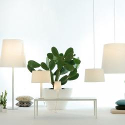 Cotton M Sobremesa E27 1x70W pantalla Verde y Base blanca