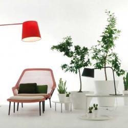 Excentrica S Lampe de table E14 1x28W abat-jour rouge et base roja