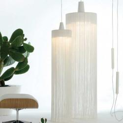 Swing one Pendant Lamp E27 1x42W white lampshade and floron Chrome