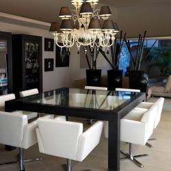 Murano Suspension 100cm E14 16x9w Noir