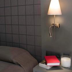 Sabana Wall Lamp left níquel Matt E27 Lector LED