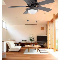 Skye Fan with light 91cm 5 blades 1xE27 Brown