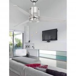 Chiloe Fan with light 3aspas ø110 LED 5w 3300K Nickel mate