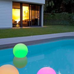 Ball 30 Bola piscina blanca batería recargable 48led rgb ø30 cm