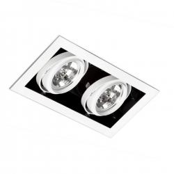 Gingko Recessed Ceiling adjustable 2xQR-111 100w white