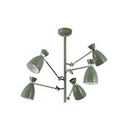Retro ceiling lamp Green 5l e14 20w