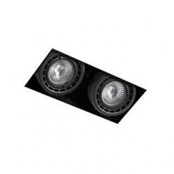 NANO COLIN-2 SIN MARCO NEGRO LED 14 - 24W 2700K 20