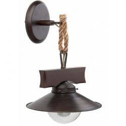 Nudos Wall Lamp 1xE27 max 60W - Brown Oxido