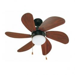 Palao Fan with light 6 blades ø82cm mahogany