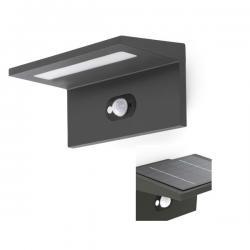 Teba Wall Lamp Grey Dark plate solar LED 4000K